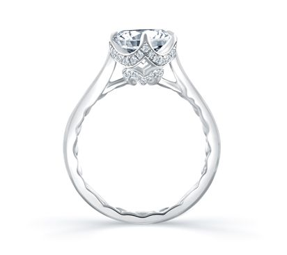 Simple Round Diamond Quilted Engagement Ring www.bridalrings.com Beautiful selection of diamond engagement, wedding, and fine jewelry. Contact us for any inquiries: 213.627.7620 - remember to mention Pinterest!