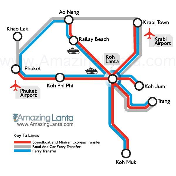 Ignore map - info on Ao Nang to Phi Phi