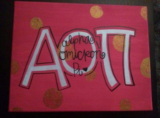 AOII canvas! #AOII #AlphaOmicronPi #Canvas #AOIIcanvas #DIY