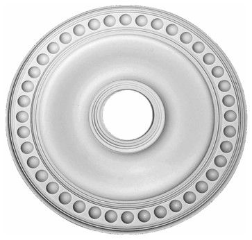 "Ceiling Medallions White Urethane Ceiling Medallion 19"" Dia - transitional - Ceiling Medallions - The Renovator's Supply, Inc."