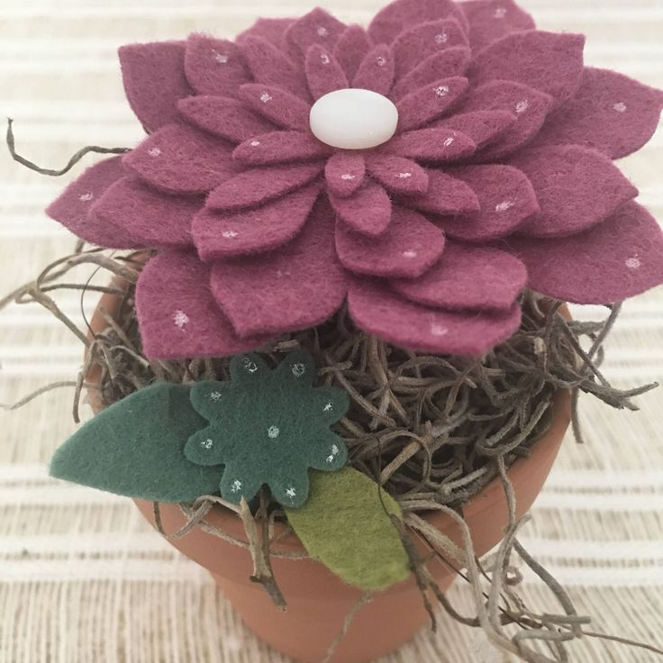 A personal favorite from my Etsy shop https://www.etsy.com/listing/526634751/felt-succulents-felt-flowers-potted