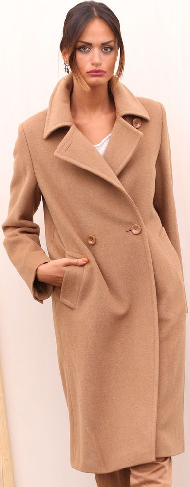 CAPPOTTO LANA WOLLMANTEL MAX MARA WOOL FOURRURE LAINE FUR COAT шерстяное пальто
