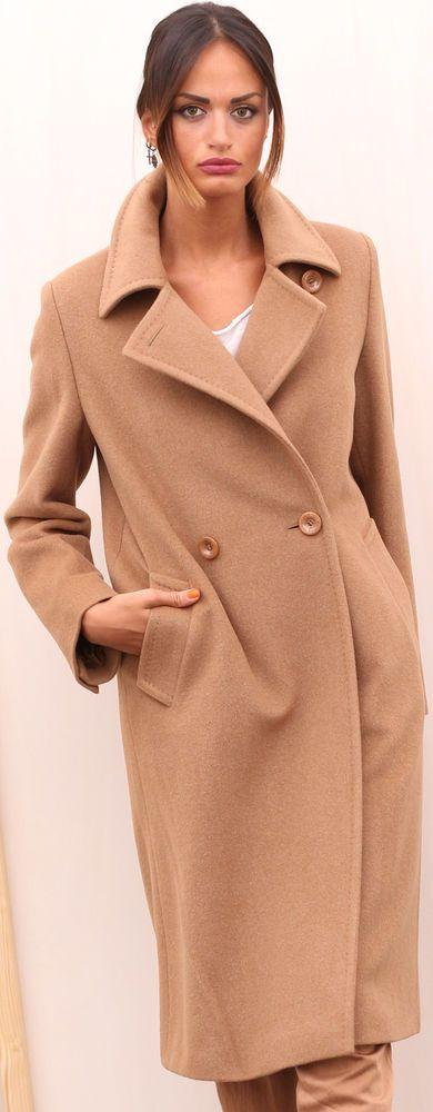 CAPPOTTO LANA WOLLMANTEL MAX MARA WOOL FOURRURE LAINE FUR COAT шерстяное пальто