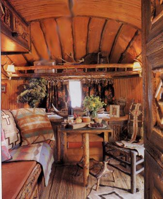 Vintage Ralph Lauren Airstream Who wouldn't want to travel in this lovely room!