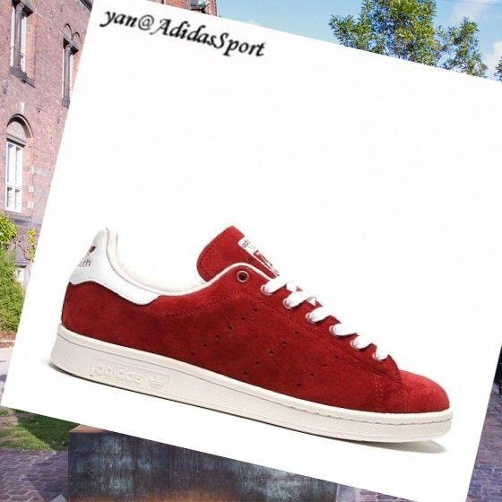 Nomad Rød Hvid - Adidas Originaler Stan Smith mænd Ruskind Sko