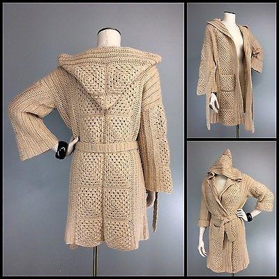 70s винтажное мокко-бежевая толстовка бабушка квадратная ручной работы вязаная крючком накидка свитер пояс | Одежда, обувь и аксессуары, Винтаж, Винтажная одежда для женщин | eBay!