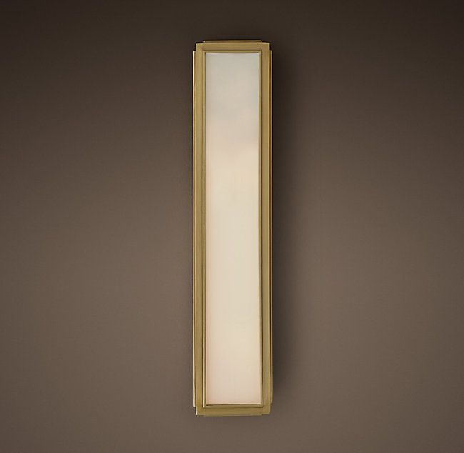 Union filament milk glass narrow tall sconce