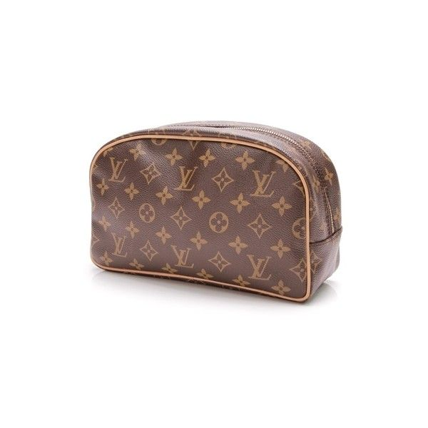 Pre-Owned Louis Vuitton Monogram Canvas Trousse Toilette 25 Toiletry... (4390 MAD) ❤ liked on Polyvore featuring beauty products, beauty accessories, bags & cases, brown, cosmetic bags, travel bag, make up purse, toiletry bag and travel kit