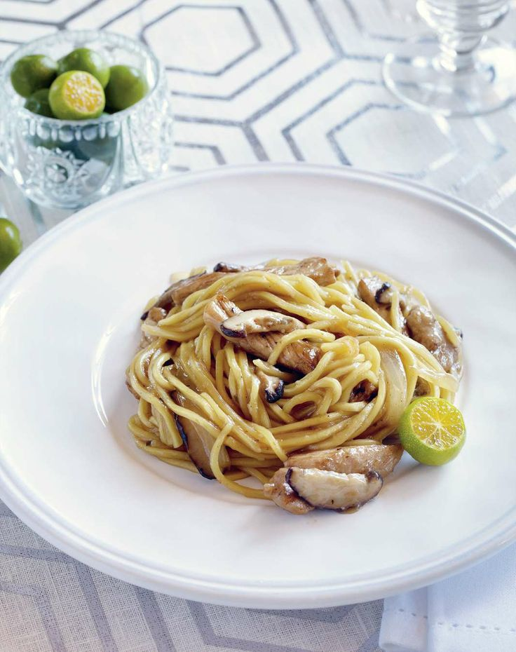 Stir-fried Canton noodles with pork and mushrooms by Yasmin Newman from 7000 Islands | Cooked