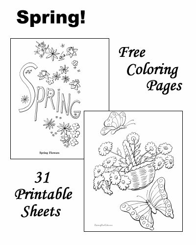 spring coloring pages detailed words - photo#16