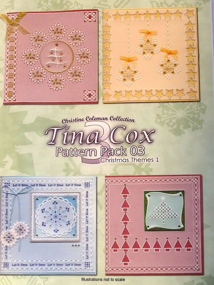 PATTERN PACK 3 - CHRISTMAS THEMES 1 BY TINA COX    Christmas Themes 1 pattern pack designed by Tina Cox.