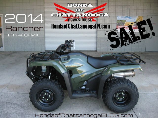 2014 Rancher 420 TRX420FM1E SALE Price at Honda of Chattanooga is too Low to advertise. Visit www.HondaofChattanoogaTN.com or Call / Email Kevin for the lowest & best 2014 TRX420 Rancher 4x4 ATV Sale Price. Our 2014 Rancher Manual / Foot Shift 420 ATVs are in stock and we have special financing promotions with $0 DOWN. 2014 TRX420FM1E / TRX420FM2E / TRX420FM1E / TRX420FM2E / TRX420FA1E / TRX420FA2E / TRX420FAE / TRX420FPAE. Wholesale Honda ATV Prices Honda of Chattanooga TN GA AL ATV Dealer
