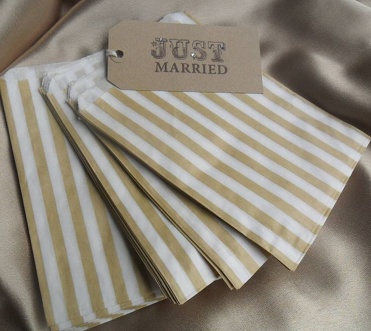 Striped candy bags