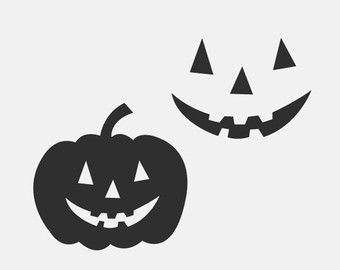 PNG, SVG en DXF-bestanden - gezicht van de pompoen, Halloween, hefboom O lantaarn Halloween pompoen, schattig, silhouetten, Clipart, Vector, Instant Download