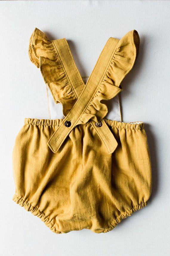 Dandelion Baby Romper  Baby Playsuit  Girl Romper  Girl Playsuit from Blythe & Reese on Etsy