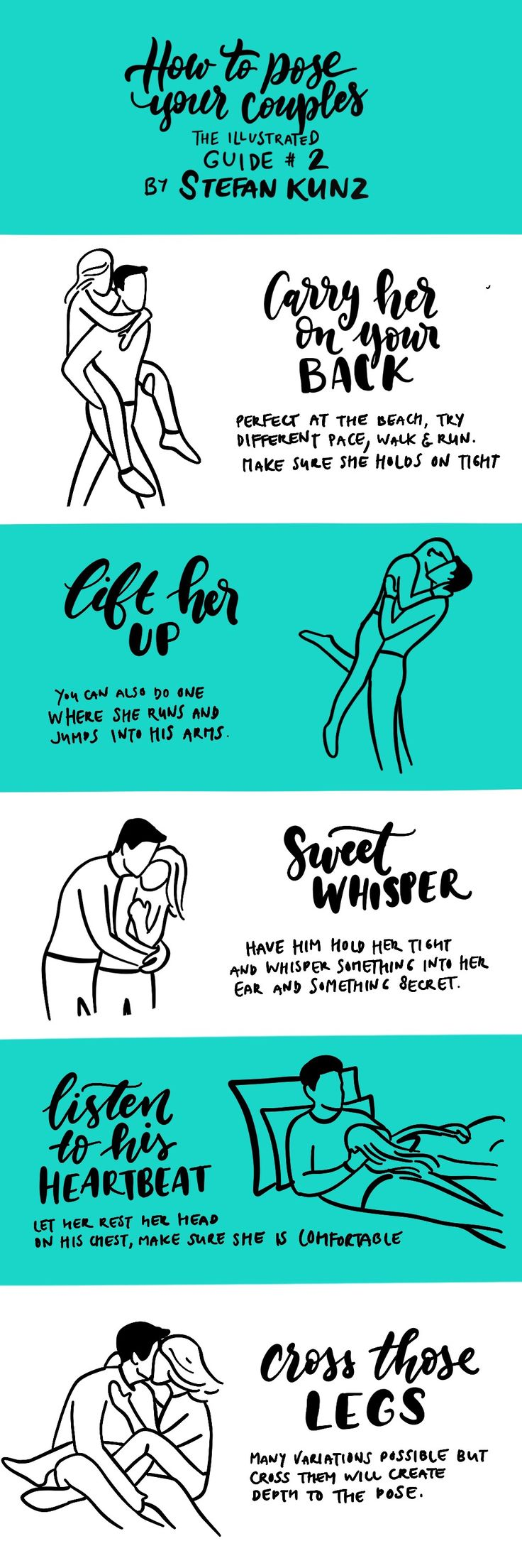 How to pose you couples - the illustrated guide #2 by Stefan Kunz  see examples and more: