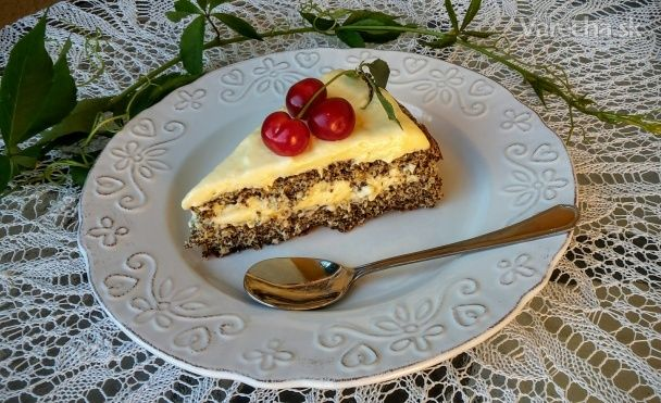 Makovo-kokosová torta - Recept