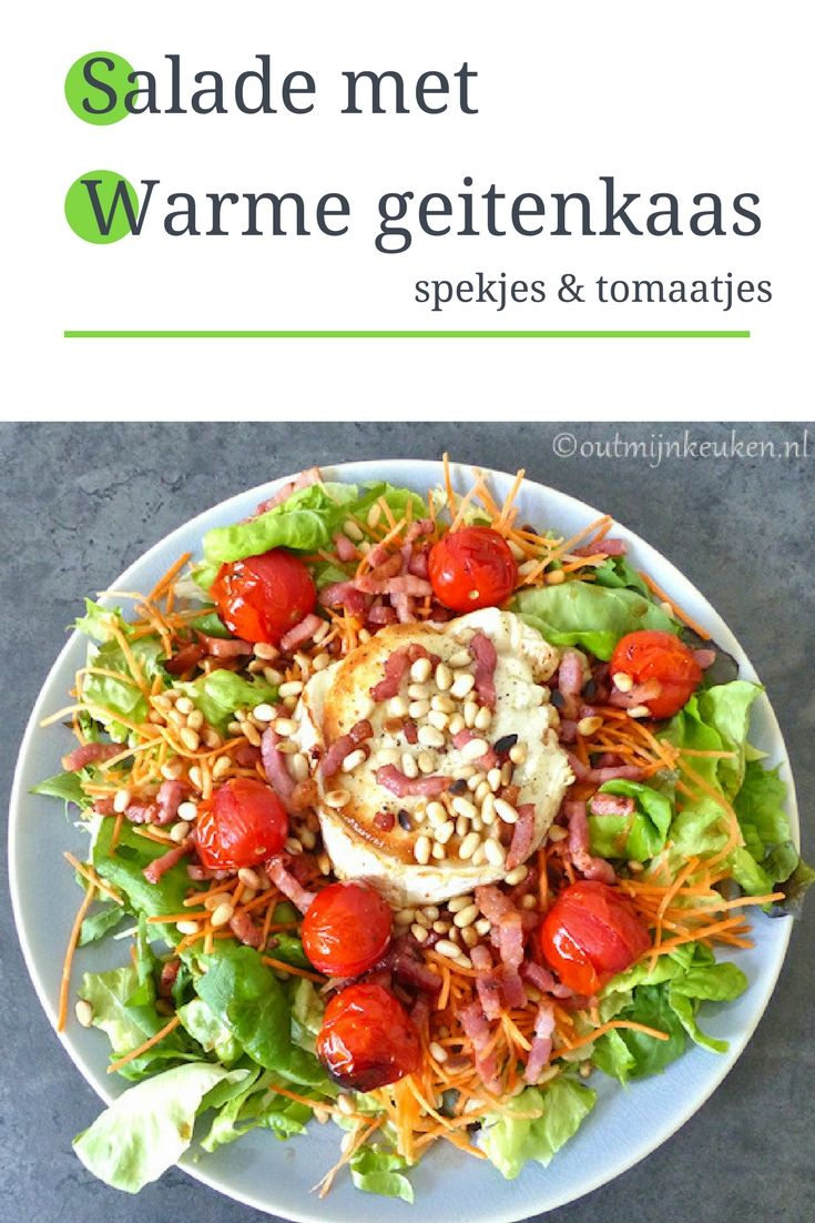 Recept   Salade met warme geitenkaas