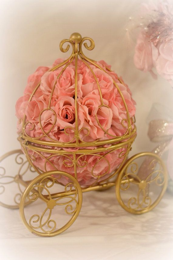 Carriage Centerpiece Cinderella Baby Shower Quinceanera