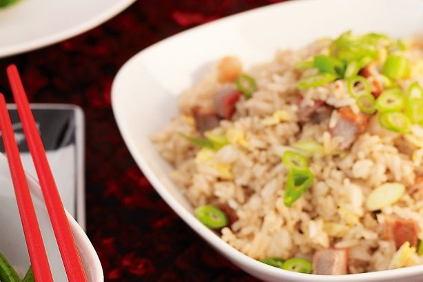 Use one-quarter of this pork in Festive Rice (see related recipe). Thinly slice the remaining pork and sprinkle with roasted peanuts to create a side dish.