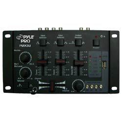 DJ  Mixer - PylePro (RBPMX5U) Professional 2-Stereo Channel DJ Mixer W/ USB Player