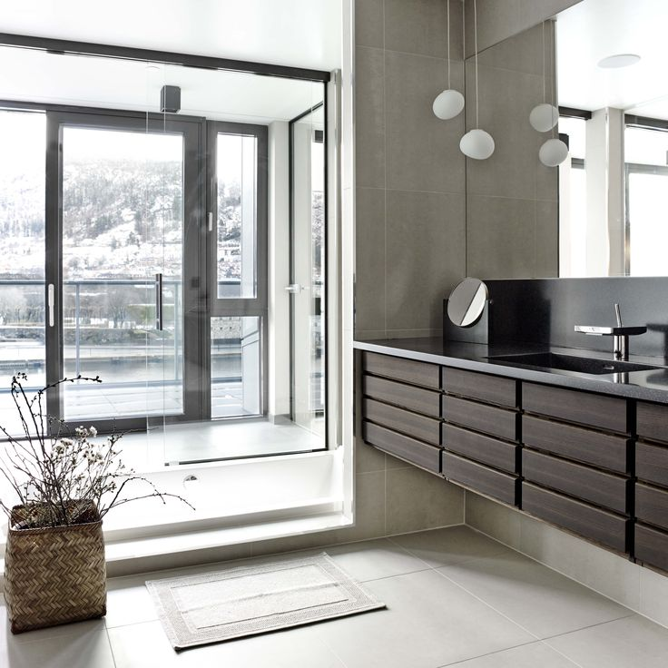 Form 1 // Smoked oak bathroom by Multifrom