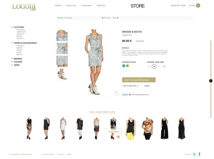 Fashion Online Store / Product Page