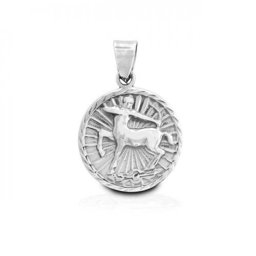 Sterling Silver Zodiac Sagittarius Large Pendant