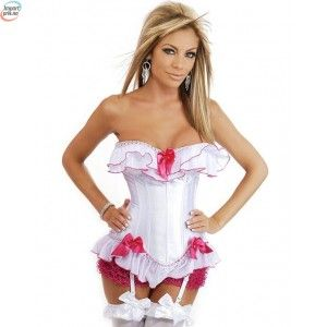 Strapless Burlesque Corset With Zipper Side