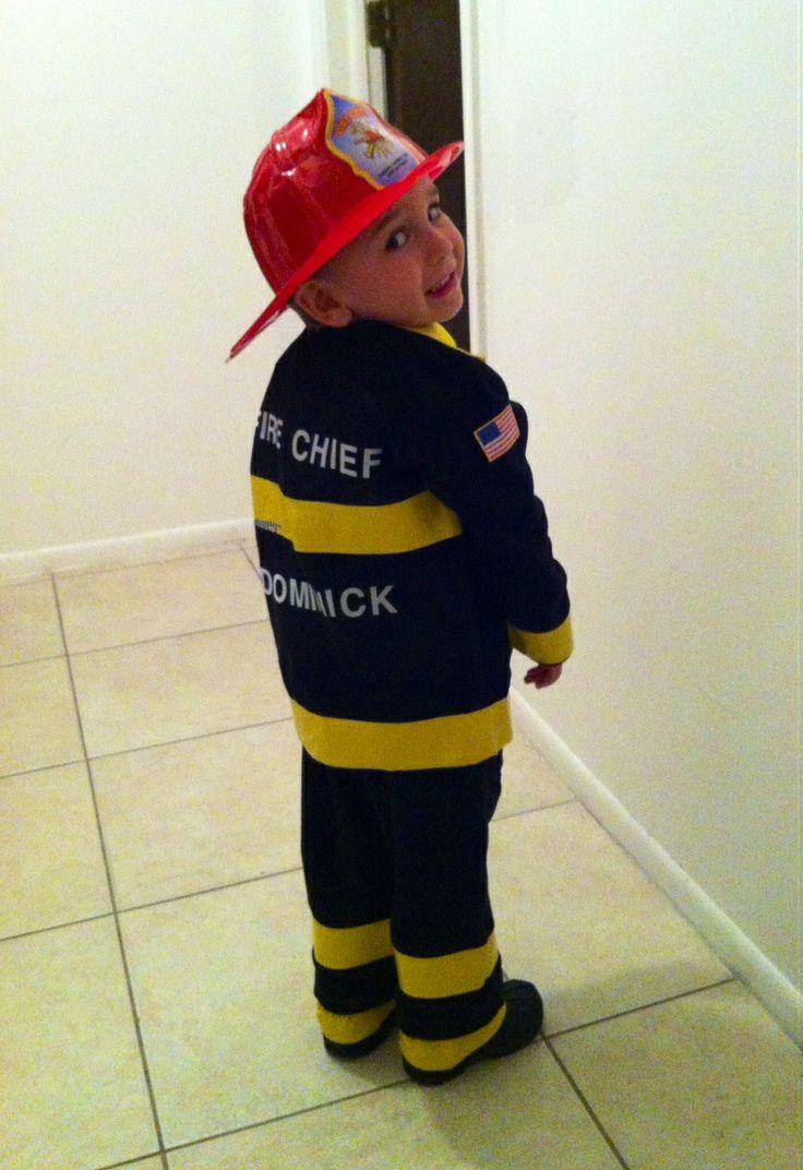 DIY fireman costume