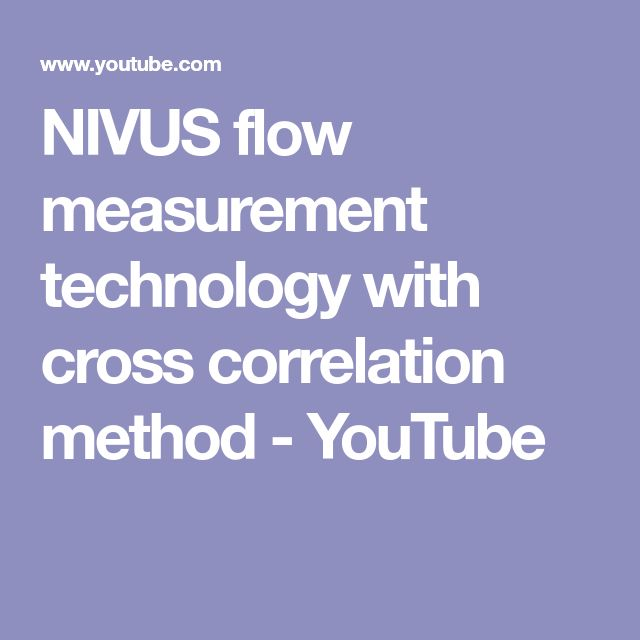 NIVUS flow measurement technology with cross correlation method - YouTube