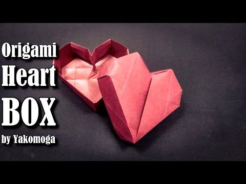 Origami Heart Box by Yakomoga - Origami easy tutorial origami gift box - YouTube