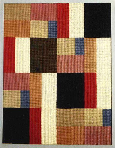Vertical y horizontal de la composición, 1916. Arte abstracto - Sophie Teuber-Arp