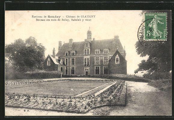 carte postale ancienne: CPA Glatigny, Château de Glatigny, Berceau des trois de Bellay, Rabelais y vécut