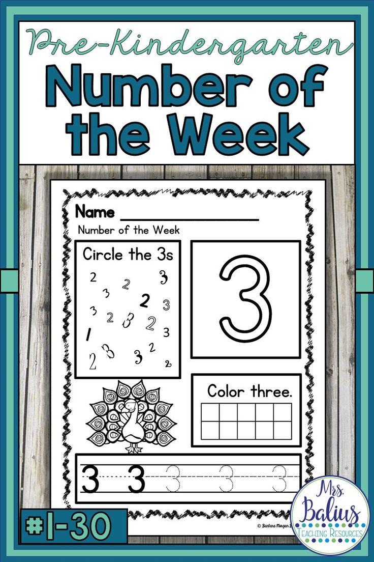 Number Sense Numbers 1-30 Bundle Pre-Kindergarten Math #fallbargains