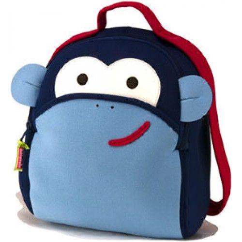 Regalos Infantiles - Mochilas para niños : Mochila mono azul - Kids backpacks -