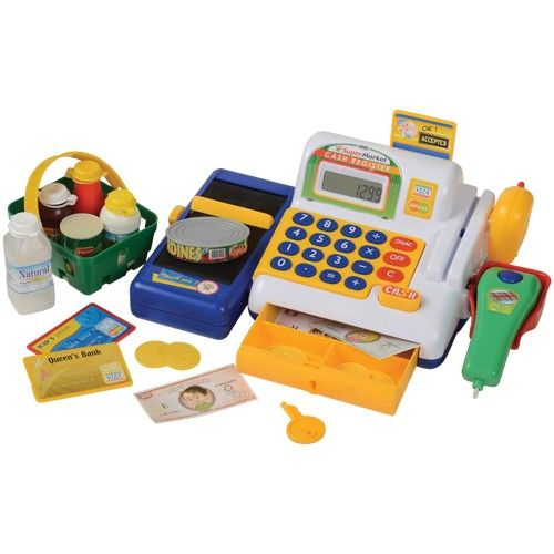 Supermarket Play Cash Register with Realistic Action | Party Supply Store | Novelty Toys | Carnival Supplies | USToy.com