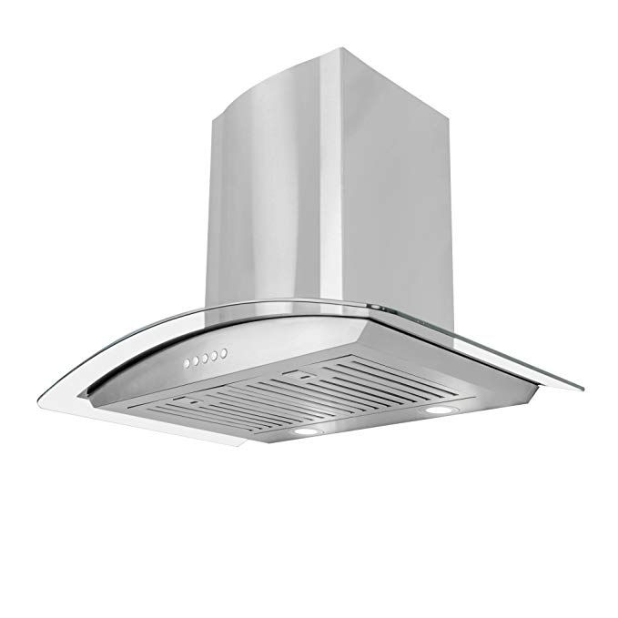 Cosmo 668a750 30 Wall Mount Range Hood With Glass Stainless Steel Review Wall Mount Range Hood Range Hood Builddirect
