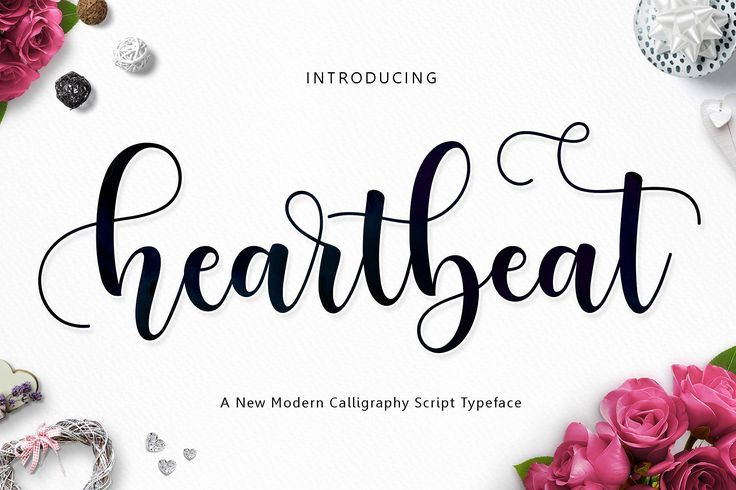 Heartbeat Script is a font that is modern and looks gorgeous - this brush script has 630 glyphs. $12 https://crmrkt.com/mGJyk #ad