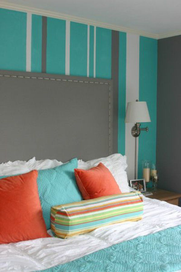 kuhles wohnzimmer orange kissen inspiration images und eeaaadbcdcdab turquoise bedroom walls striped walls bedroom