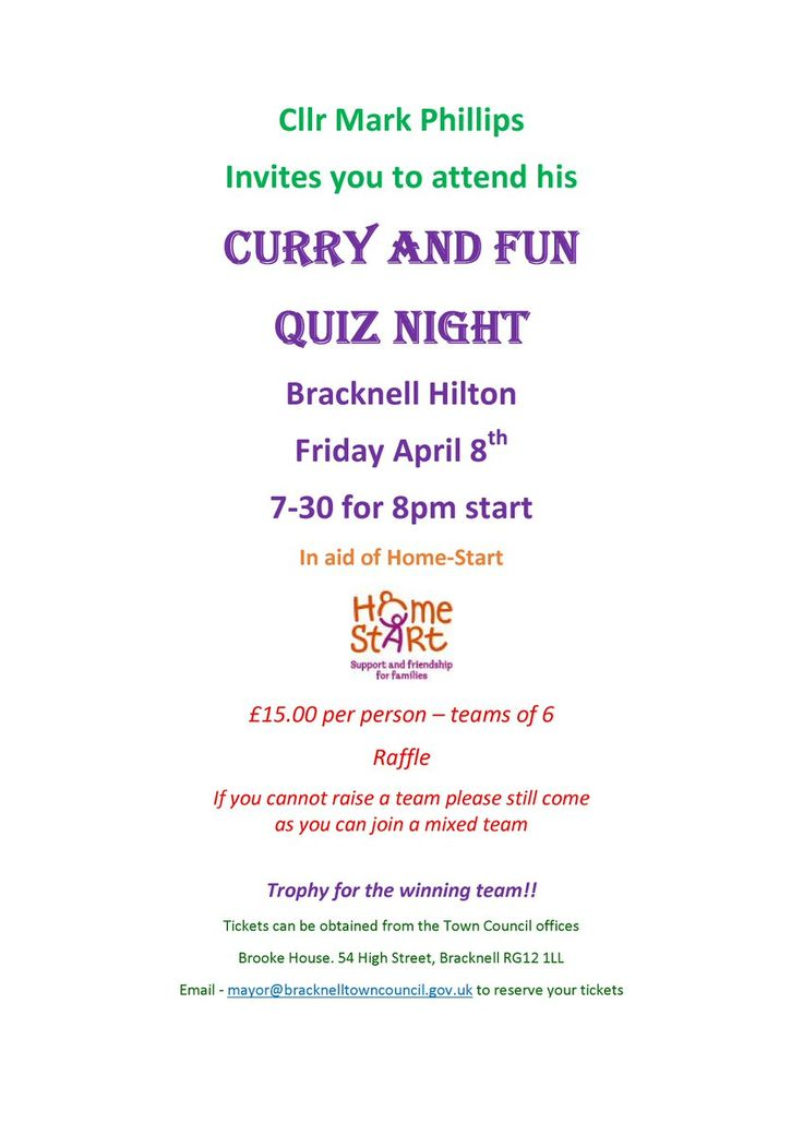 Events in Berkshire (@Eventsberkshire) on Twitter Bracknell Town Mayor's Curry and Quiz night