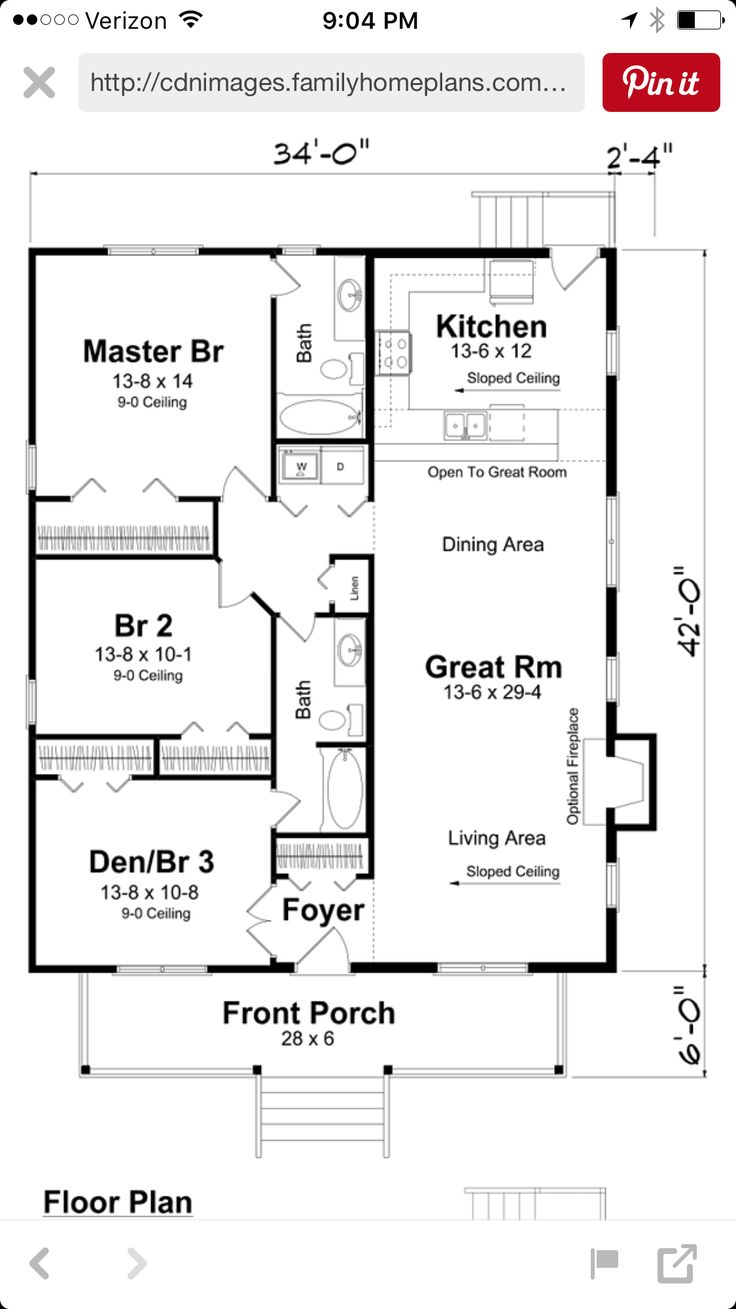 1000 images about house plans on pinterest narrow house for Family homeplans com