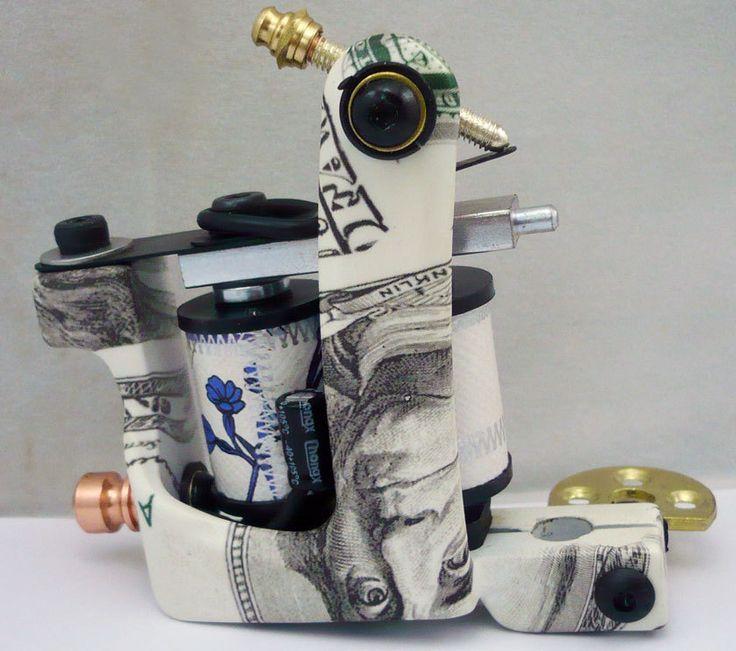 Профессиональный доллар татуировки части каркаса Dual10 катушки шейдеров и вкладыша татуировки пулемет YL105