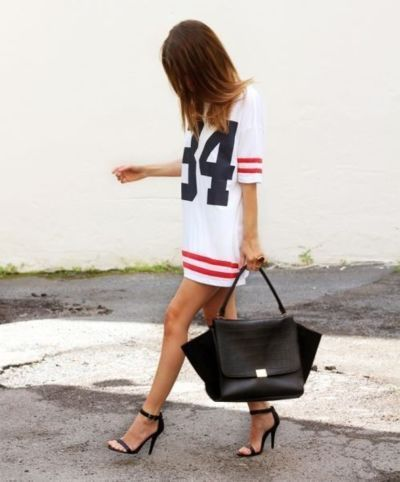 A football jersey dress...I neeeeed this made to look like a Texans jersey!!!
