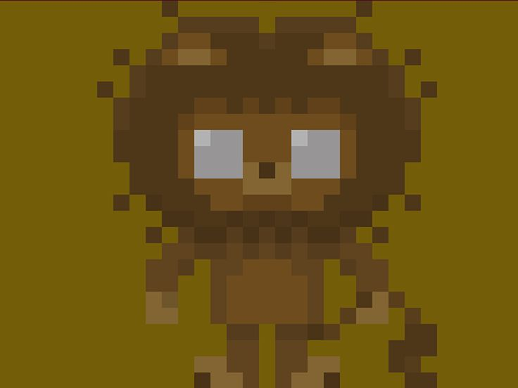 "Famous Characters in Pixel Art • Lion's Courage (Leone Codardo) from ""The Wonderful Wizard of Oz"" L. Frank Baum #pixel #pixelart #pixels #lion #courage #leone #codardo #oz #wizard #wizardofoz #ilmagodioz #magodioz #16bit #characters #theoluk"