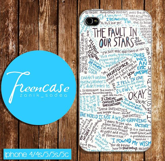 fault in our stars quotes case for iphone 4 by FreenCase on Etsy, $15.55