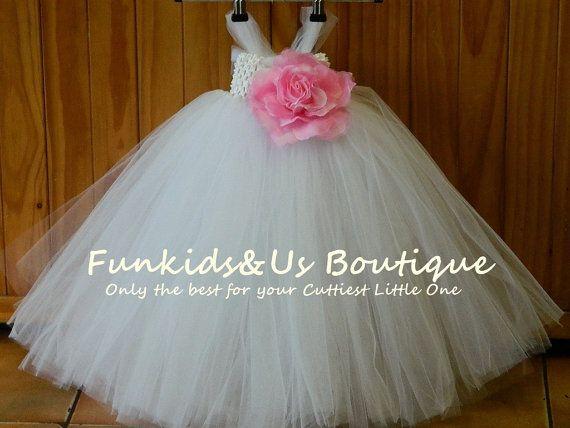 White Tutu Dresschristening tutu dress by FunkidsandUsBoutique, $38.90