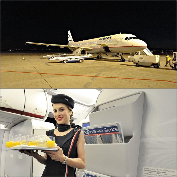 Ξημέρωμα Παρασκευής στο αεροδρόμιο της Πάφου το αεροσκάφος μας έτοιμο για την πρώτη προγραμματισμένη πτήση Πάφος – Αθήνα ένα Welcome Drink Και ένα πρωινό χαμόγελο από την Aegean και το πλήρωμα της πτήσης
