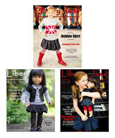 This Girl & Doll Skirt Pattern Set is perfect! #zulilyfinds