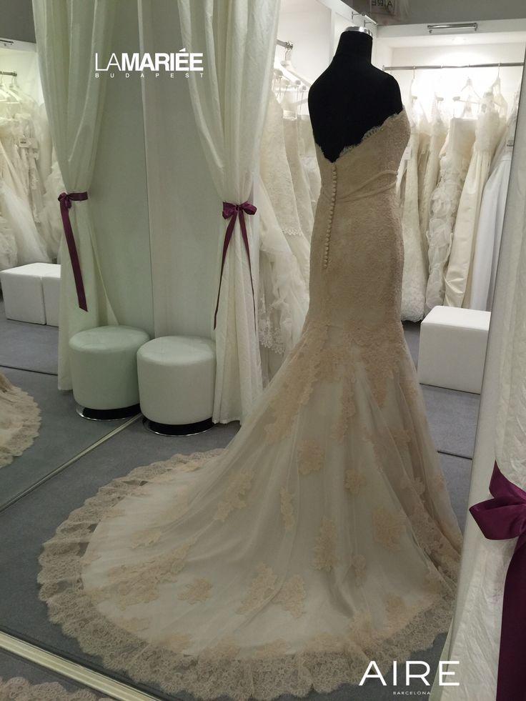Púder színű Amelie esküvői ruha http://lamariee.hu/eskuvoi-ruha/aire-2015/amelie